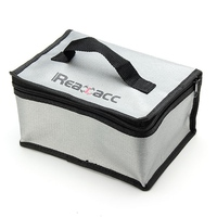 220x155x115mm Realacc Fireproof RC LiPo Battery Safety Bag Charging Bag With Handle Fire Retardant Fiberglass Woven