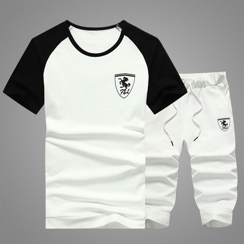 New Leisure Suit For Summer Men's Short Sleeve T-shirt For Summer