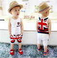 0-2 years old in 2015 a new summer 100% cotton short-sleeved T-shirt + shorts set m word pattern baby set baby boy clothing set