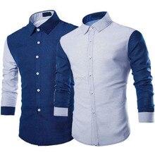 Мужчины Повседневная Slim Fit Рубашки Платья Знаменитости Мода Бизнес Длинный Рукав Fomal Верхней Части Рубашки