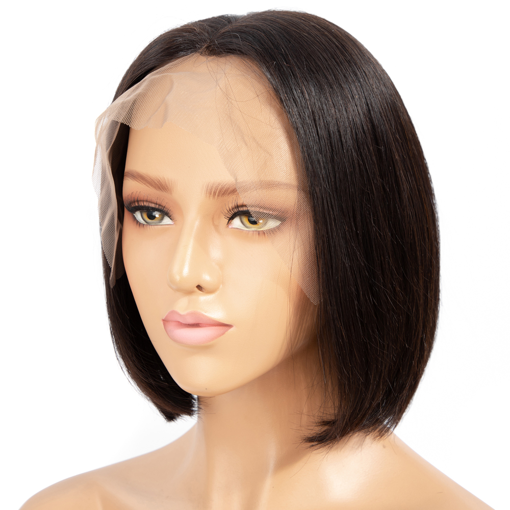 Lace Front Human Hair Wigs Brazilian Straight Wigs Glueless Pre Plucked Hairline Natural And 99J Color