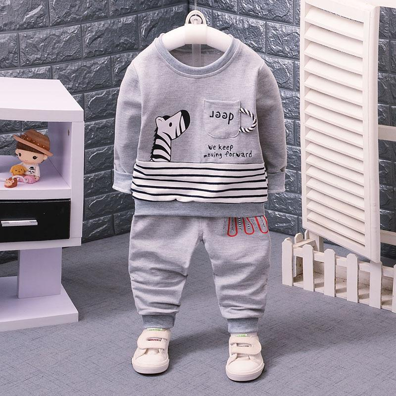 Cartoon Cute Boys Clothes Spring Autumn Casual Kids Clothes for Boys Long Sleeve Shirts Pants Children Clothing Set Size 1 2 3 4