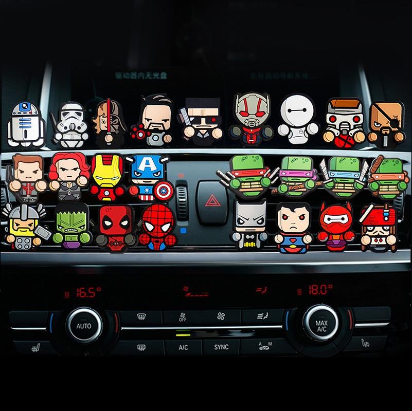 Set di 4 pz 7 pz 5 pz Per Avengers Star War Auto profumo presa Aria auto Deodorante profumi Condizionata Vent Clip Carino Cartoon