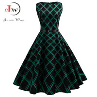 Floral Print Women Summer Dress Hepburn 50s 60s Retro Swing Vintage Dress A Line Party Dresses