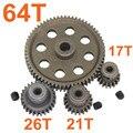 11184 de Metal de Acero Spur Dif Diferencial Main Gear 64 T Piñón Del Motor engranajes 17 T 21 T 26 T 11176 11181 11119 De HSP Redcat Exceed RC