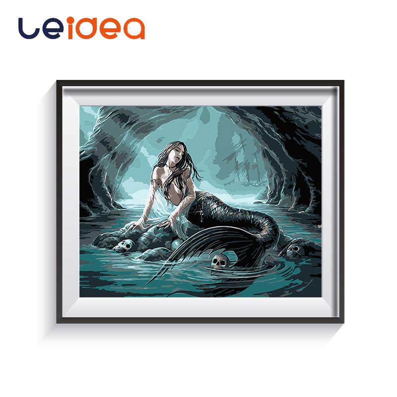 Boya Mermaid Karikatur Yagliboya Resim Boyama Numaralari Modern