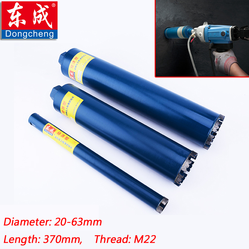 Diameter 20-76mm*370mm Dry Diamond Core Bit 51x370mm Water Diamond Drill Bit For Wall, Reinforced Concrete, Bridge Drilling Hole