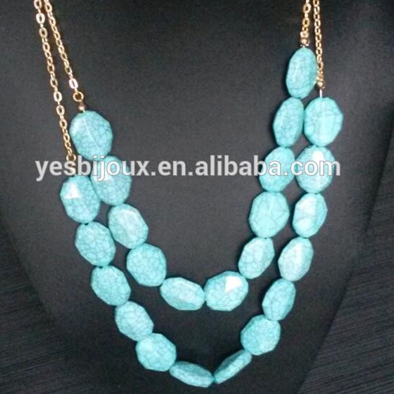 green resin bead resin costume jewelry hot sell crystal statement amazon jewelry|Pendant...