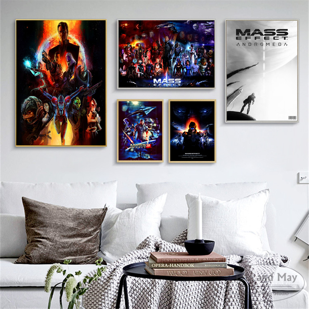 Mass Effect Video Game N7 Canvas Art Print Painting Modern Wall Picture Home Decor Bedroom Decorative Posters No Frame Quadros(China)