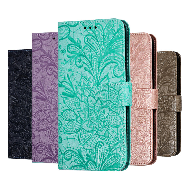 <font><b>Honor</b></font> 20 Pro <font><b>Case</b></font> Lace Flower <font><b>Flip</b></font> Leather <font><b>Cases</b></font> For Huawei <font><b>Honor</b></font> 9X Pro 8A 8X 8C 8S 7A Pro <font><b>7C</b></font> Cover 10 Lite 20i Wallet Book image