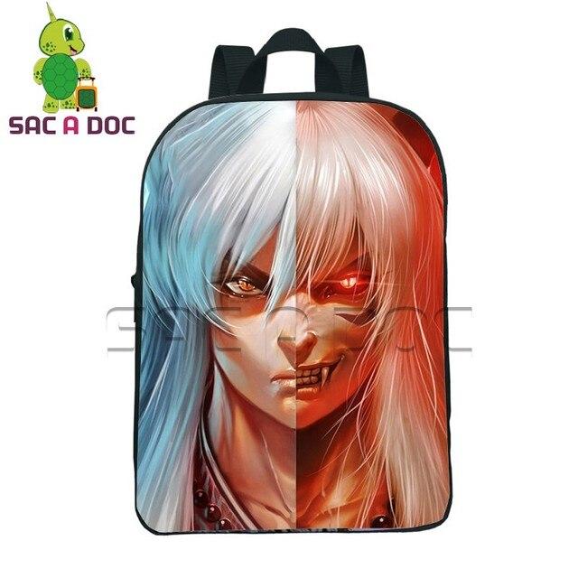 12 Inch Anime Inuyasha Split Toddler Backpack for Kids Boys Girls School Bags  Children Kindergarten Backpacks Kids Portable Bag a795c9315a03a