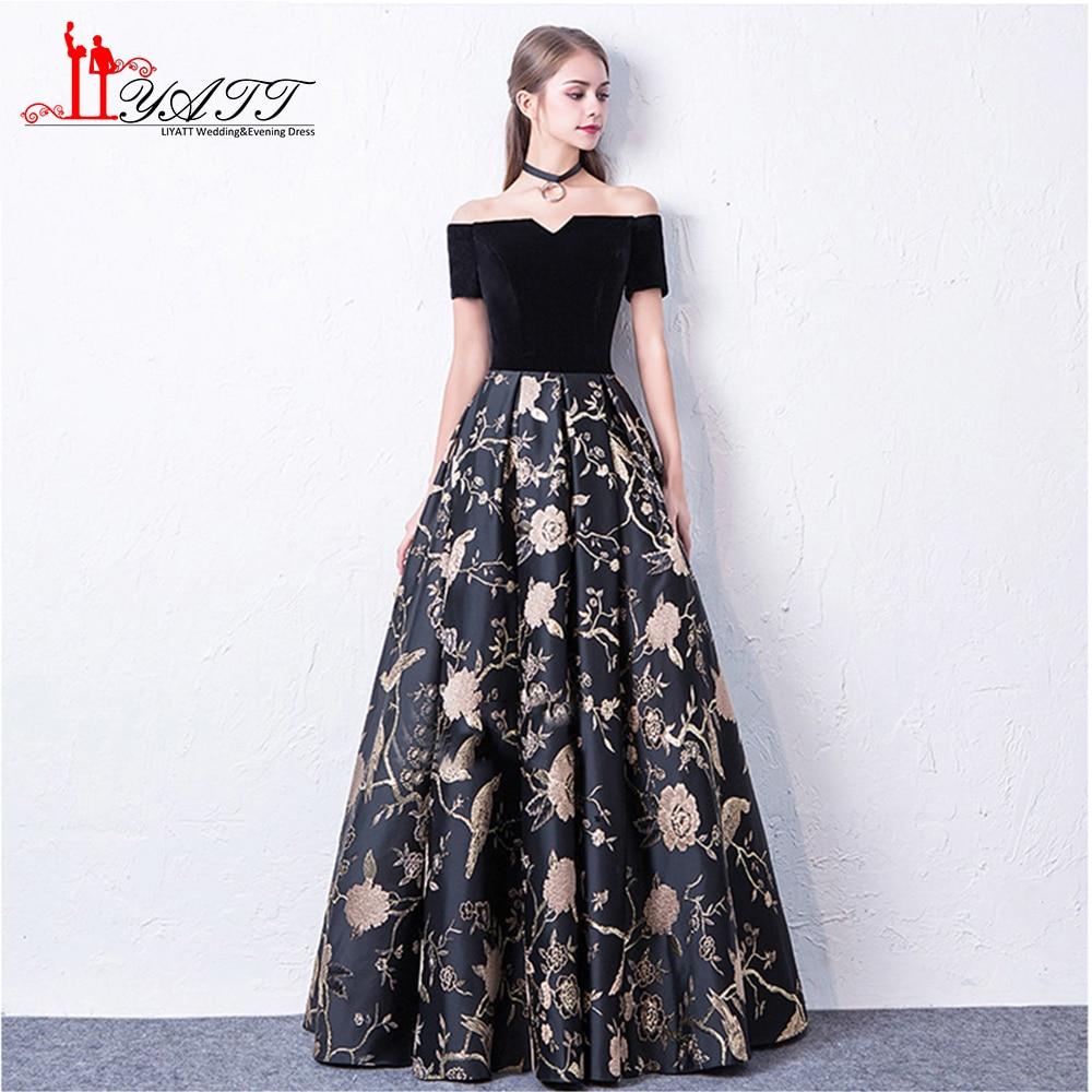 Liyatt 2018 New Fashion Formal Evening Dress Elegant Off