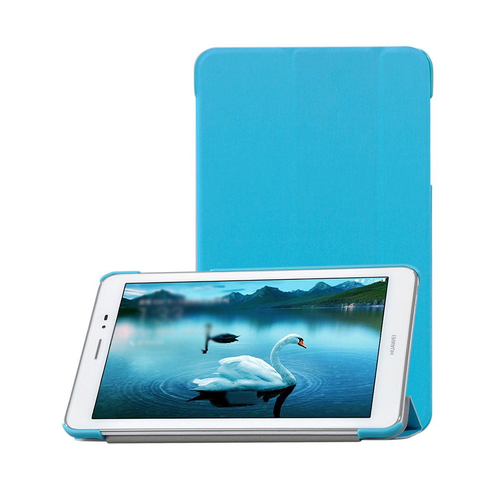Case For Huawei Mediapad T1 8.0 S8-701U S8-701W T1-821W T1-823L Tri-Folding PU Leather Tablet Case Cover+Stylus Pen