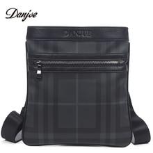 DANJUE Men Messenger Bag High Quality PU Man Bag Trendy Business Bags  Vertical Printing Men Shoulder 901def6381b8d