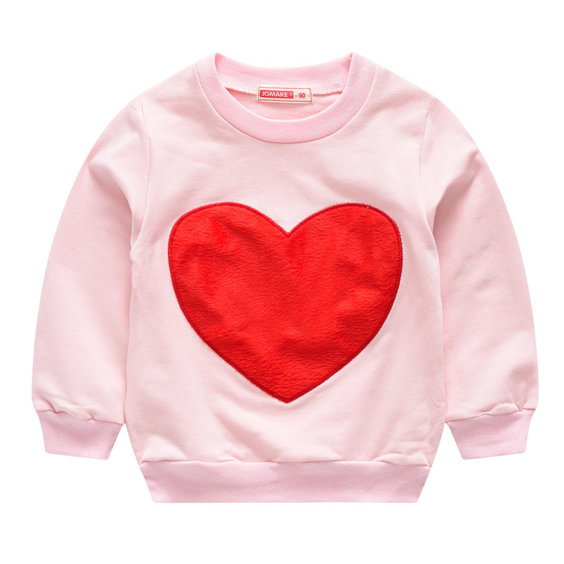 Casual Children Outerwear Love Printed Long Sleeved Baby Girls Boys Short Loose Coats Spring Autumn For 80 130cm in Jackets Coats from Mother Kids
