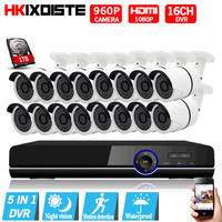 1080P HDMI DVR 2500TVL 960P HD Outdoor Home Security Camera System 16CH AHD 1080P CCTV Video
