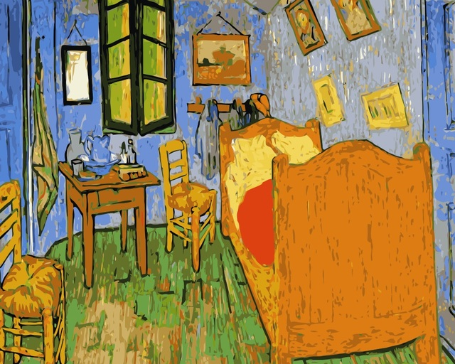 mahuaf i360 tableau van gogh diy digital oil painting by numbers on canvas hand painted coloring. Black Bedroom Furniture Sets. Home Design Ideas