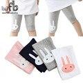 Розничной 3-10years 4 кролика цвета лосины девушки колен малыша Пять брюки Обрезанные одежда дети леггинсы детей летом прохладно