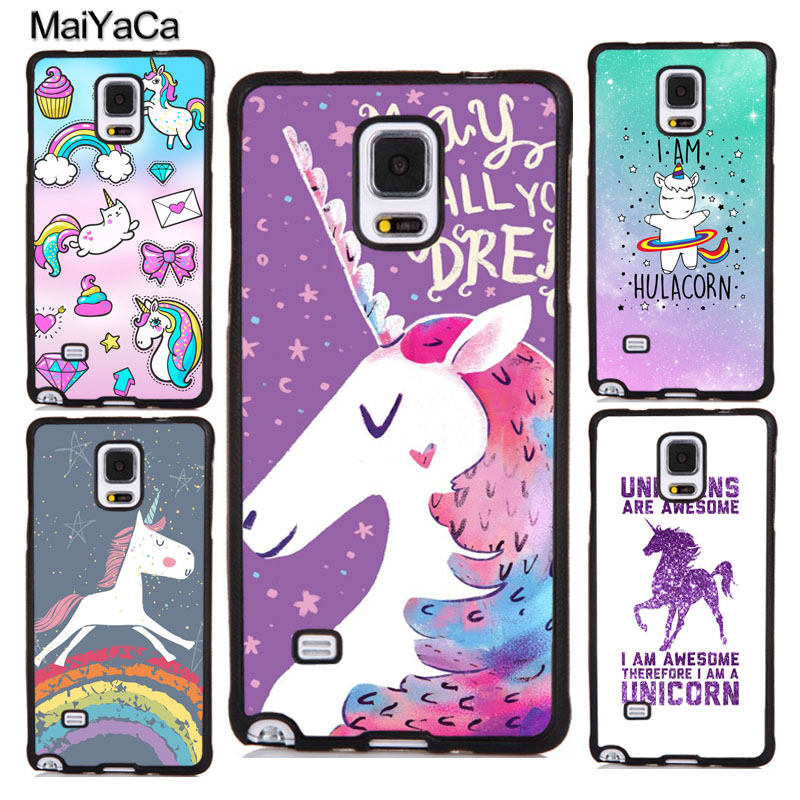 MaiYaCa UNICORN STARS COLOURFUL RAINBOW Soft Phone Cases For Samsung Galaxy S5 S6 S7 edge plus S8 S9 plus Note 4 5 8 Cover Shell