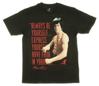 2017 D'été de mode streetwear manches courtes T-shirts Bruce Lee Toujours être vous-même express Mens Hommes de Chemises Hommes Vêtements Nouveauté Cool