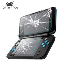 DATA FROG 2 Pcs Tempered Glass Screen Protector For Nintend New 2DS XL/LL Premium Full Cover Screen Protector Film(China)