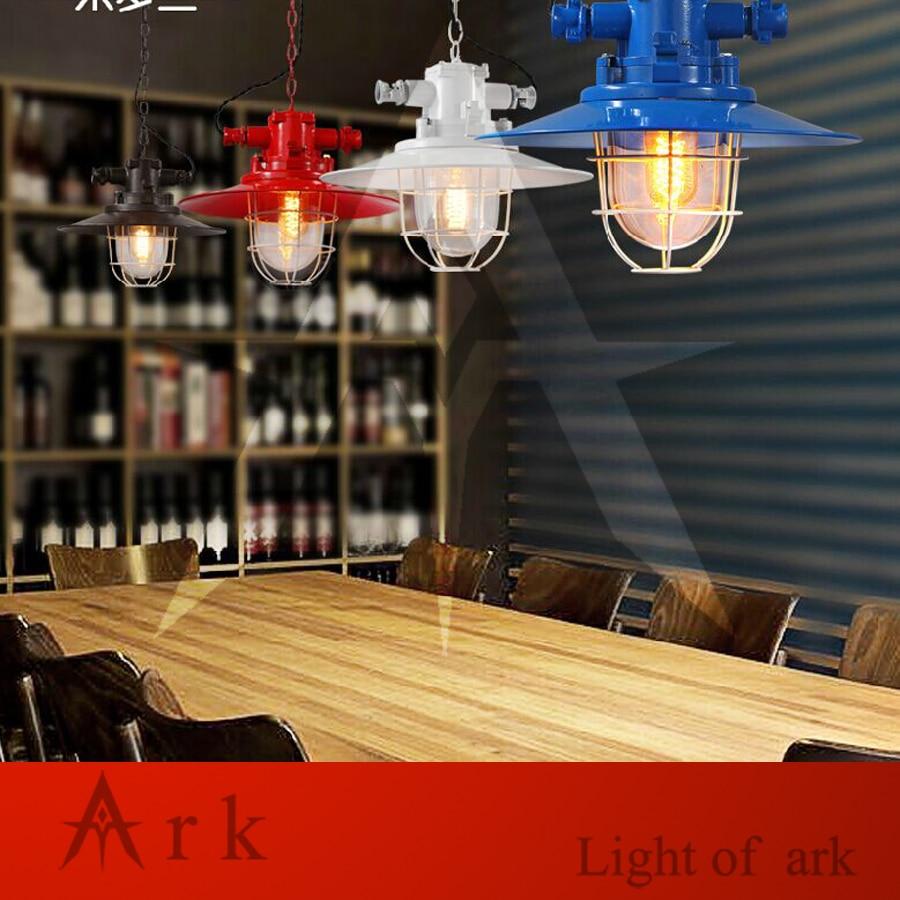 ark light loft vintage dia 40cm colorful iron b
