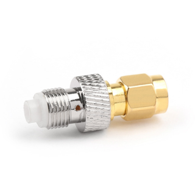 Areyourshop FME Female Jack Plug to SMA Male Plug Straight RF Coax Adapter Connector Converter 50 ohm 1PCS Wholesale for Wires