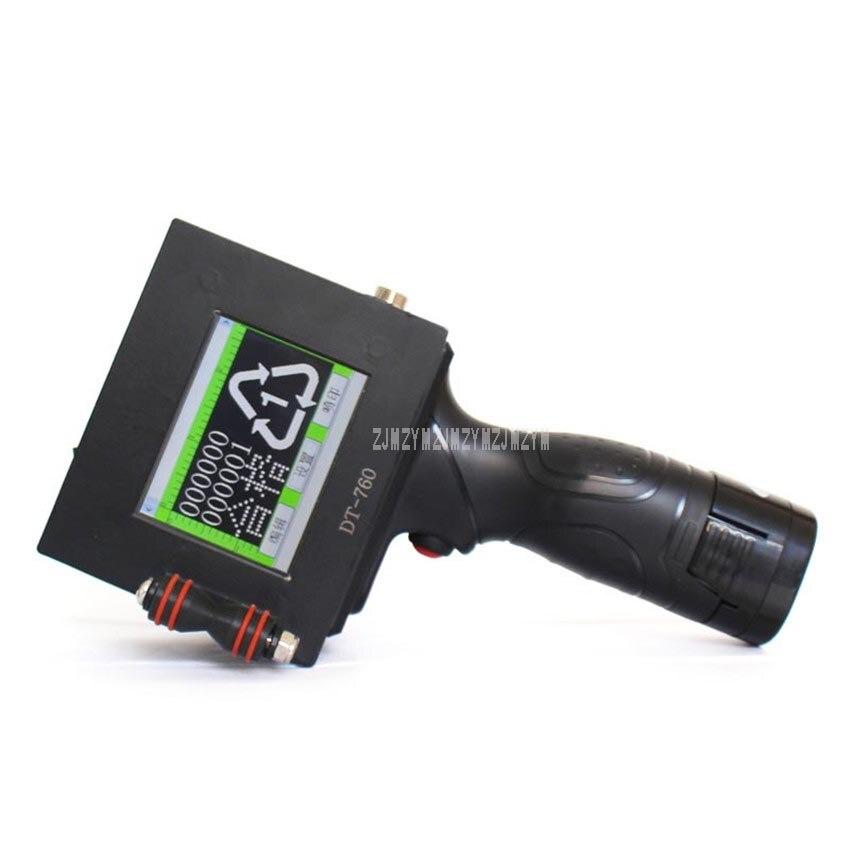 Портативный мини умный принтер сенсорный экран струйный принтер Номер Дата Время QR код штрих код для коробки печати DT 760