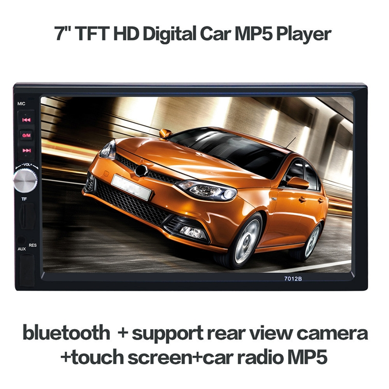High Quality 7 inch HD 1080P Touchscreen Bluetooth Double DIN MP5 Player Car FM Radio Receiver+ 18mm Color CCD Camera