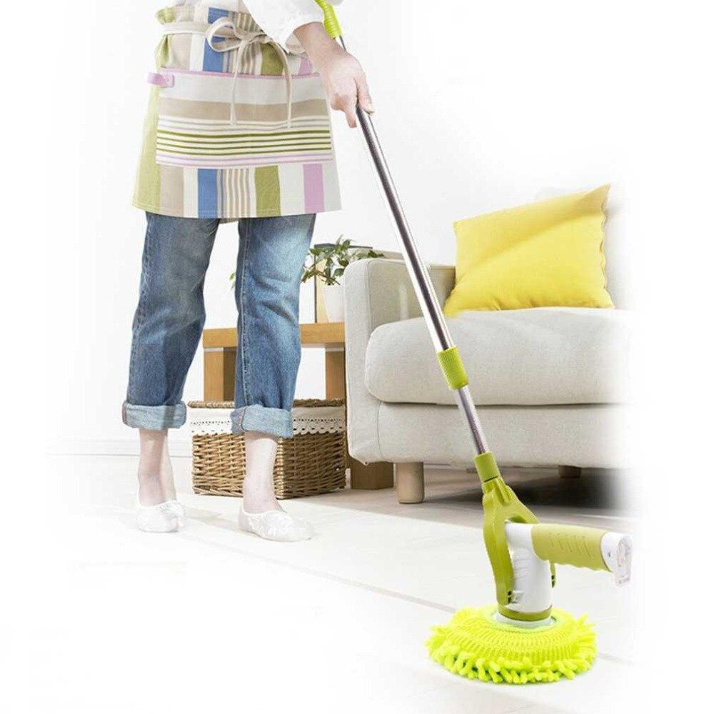 Ajustável 360 Girando Mop Elétrica Uso Doméstico Carregamento escova de Limpeza Escova de Chão Janela Automático Mop