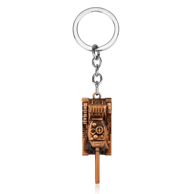 dongsheng World of Tanks WOT Hot Game 3Colors Metal Tank Key Ring Keychain Pendant Gift -50 1
