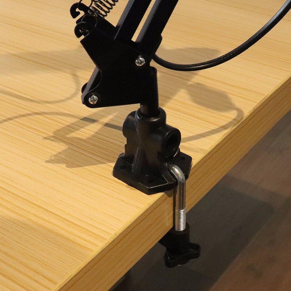 E27 Черный Поддержка вращения 360 градусов Гибкая кулисой Настольная лампа с поворотной головкой лампы и крепление для офиса /Главная