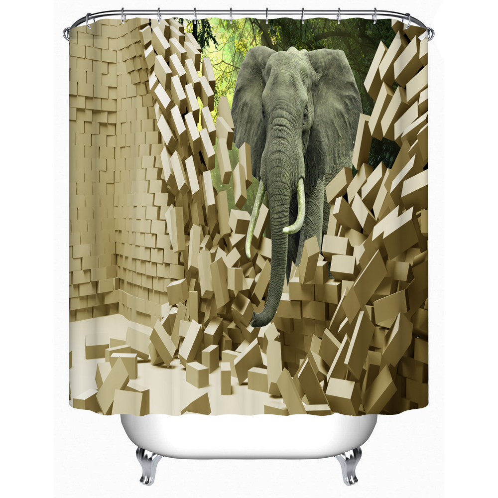shower curtains majesty elephant waterproof shower curtains bathroom