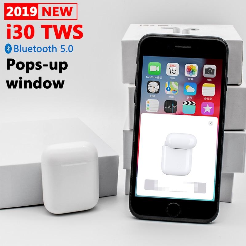 i30 TWS Pop-up 1:1 размер копия AirPODS - купить