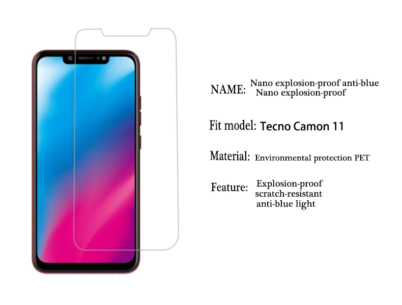 US $1 86 15% OFF|9H Screen Protector Film Guard For Tecno Camon 11 Soft  film Pouvoir 1 2 Pro Pop 1 1s Lite F2 LTE Anti blue light Spark Plus-in  Phone