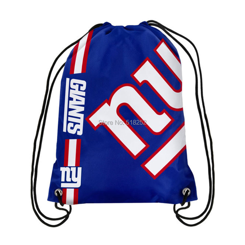 2018 NEW YORK NY GIANTS Drawstring Backpack NFL Bag Sack Gym Beach Bags  Tote.   8fbe4217e