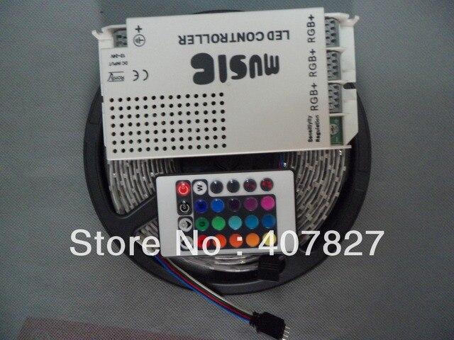 IR Music Controller Sound Sensitive 108W 9A DC12V + 15M LEDStrip RGB SMD3528-60led/M Waterproof IP65+DC12V 2A EU Plug Power