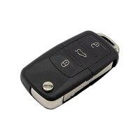 remote key WhatsKey Folding Key 2/3 Button Remote Flip Key Shell Case Fob For Volkswagen B5 Golf Polo Passat Bora MK4 Seat Leon ibiza (4)