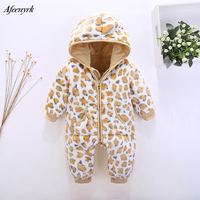 Newborn Clothes 2017 Hooded Baby Boys Girls Clothes Infant Rompers Clothing Spring Autumn Baby Flannel Animal