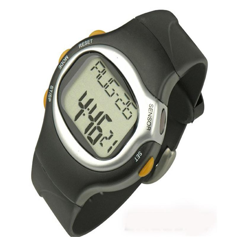 Digital Wristwatches Black Dial Calorie Counter Pulse Heart Rate Monitor Hodinky Sport Exercise Watch Men Women Watches Fashion multifunction pulse heart rate calorie wrist watch silver black