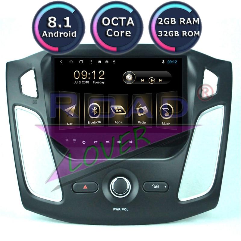 Roadlover Android 8.1 Voiture Auoradio Lecteur Pour Ford Focus 2012 2013 2014 2015 Stéréo GPS Navigation Magnitol Double Din 9 AUCUN DVD
