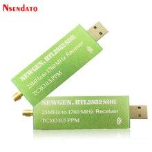 USB2.0 RTL SDR 0.5 جزء في المليون TCXO RTL2832U R820T2 موالف التلفزيون عصا AM FM NFM DSB LSB SW البرمجيات تعريف راديو SDR التلفزيون الماسح الضوئي استقبال