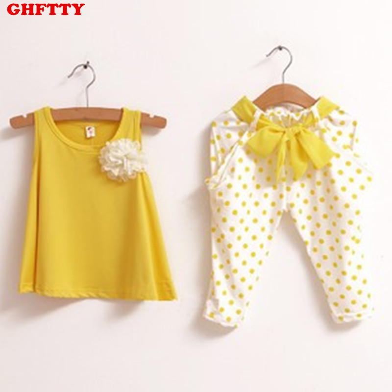 2017 Retail 2-7Y Kids Summer Sets Yellow/Green/Red 100% Cotton Polka Dot Girls' Summer Suits Sleeveless T-shirt + Pants developmental disabilities from childhood to adulthood – what works for psychiatrists in community and institutional settings