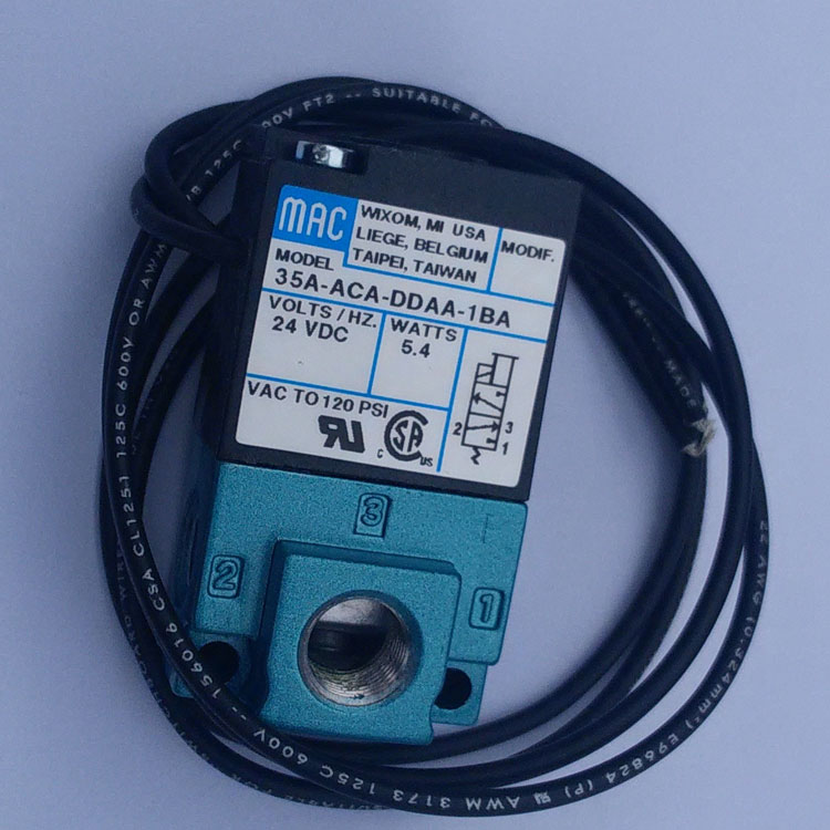 MAC Pneumatic gas controller 24V Solenoid Valve mac