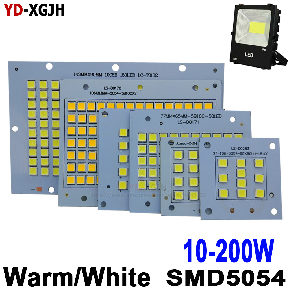 10W 20W 30W 50W 100W 150W 200W SMD 5054 Led Board 100% Full Power LED Floodlight PCB  Aluminum Plate For Led Floodlight