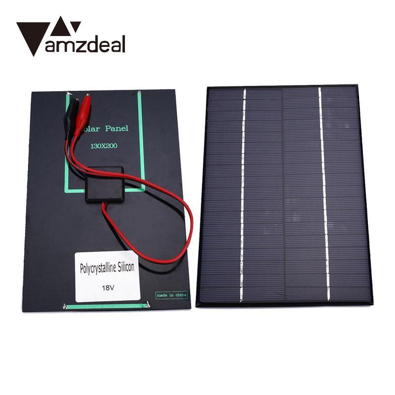 Motivated Amzdeal 4.2w 18v Solar Battery Power Charging Panel Charger Controller For Motorbike Boat With Clip Computer & Office