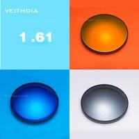 1 61 Index Sunglasses Color Mirror Lens Single Vision For Myopia 4 00 6 00 Degree
