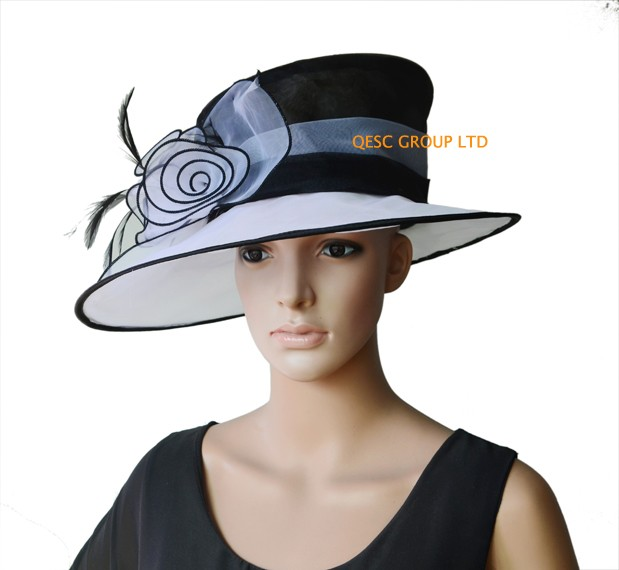 NEW-ARRIVAL-organza-hat--Kentucky-derby-hat-bridal-hat-with-feathers-for-wedding-races-party-church