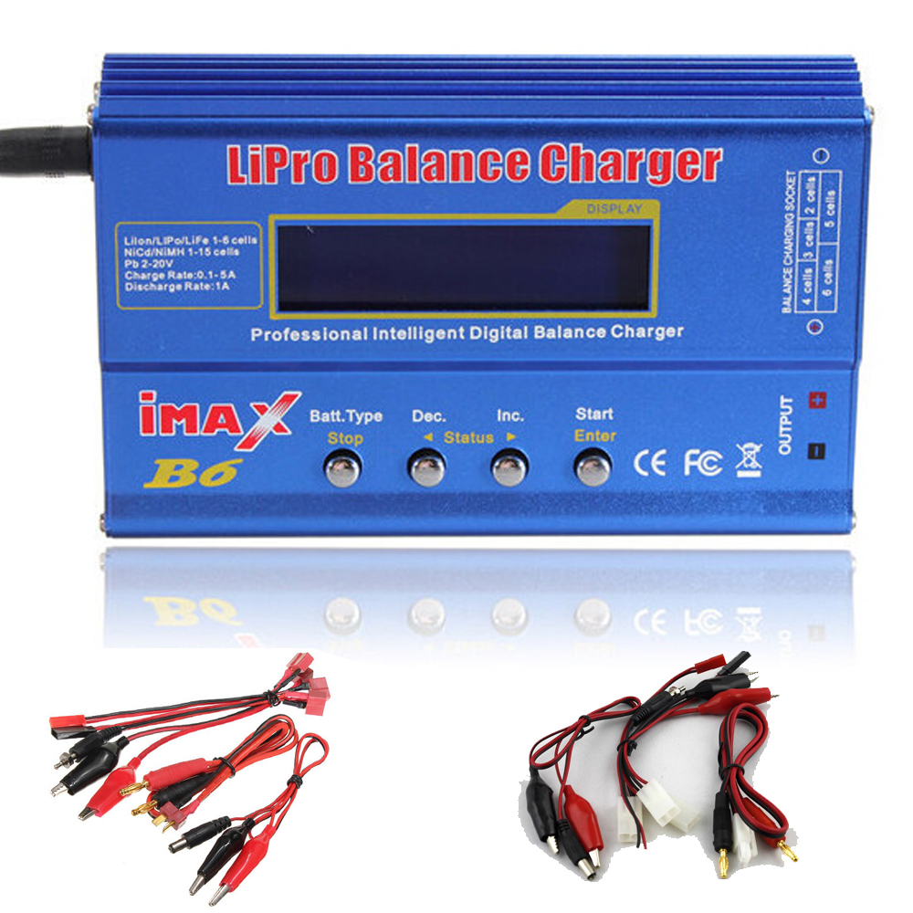 Wholesale 3pcs/lot IMAX B6 Lipo Battery Balance Charger Digital Charger Discharger for RC Quadcopter Dropship ocday 1set imax b6 lipo nimh li ion ni cd rc battery balance digital charger discharger new sale