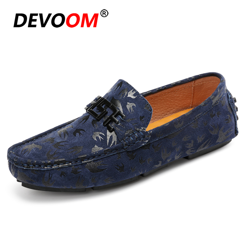 Fashion Slip on   Suede   Loafers Men   Leather   Casual Flats Summer Driving Shoes Breathable Men Shoes Luxury Brand Mocassin Homme New